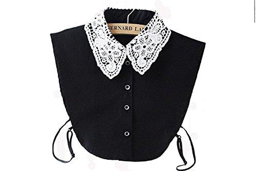 ANGEL SWEET Half Shirt Detachable Fake False Faux Collar Cuff Cotton Choker Tie White