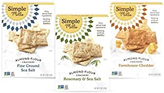 product image for Simple Mills, Snacks Variety Pack, Fine Ground Sea Salt, Rosemary & Sea Salt, Farmhouse Cheddar Variety Pack, 3 Count (Packaging May Vary)