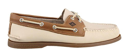 Hand Sewn Boat - Sperry Men's Topsider, Authentic Original Boat Shoe White/Camel 10.5 M
