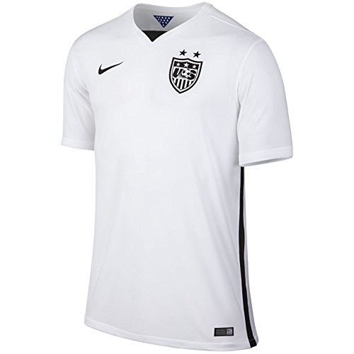 Nike Men's USA S/S Home Stadium Jersey, Football White Black, LG