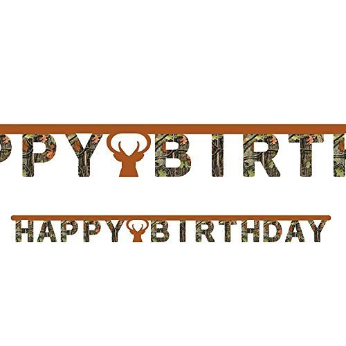 Hunting Camo Jointed Happy Birthday Banner (2-Pack) for $<!--$10.28-->