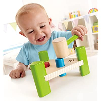 Hape Little Pounder Toddler Wooden Hammering and Music Toy: Toys & Games
