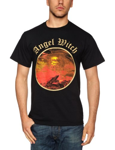 Ptshirt.com-19336-Angel Witch Logo Official Mens New Black T Shirt-B003VD1S5Y-T Shirt Design
