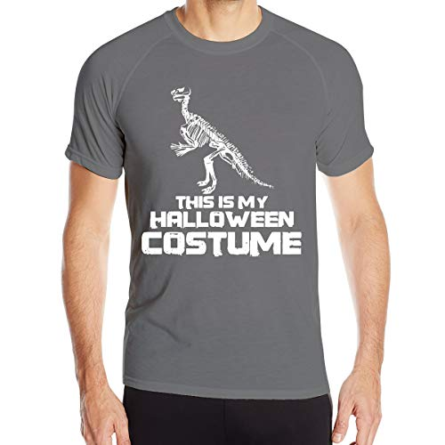 This is My Halloween Costume Mens Rapid-Drying Crew Neck Shirt T-Shirt Short Sleeve Workout Clothes Deep Heather ()