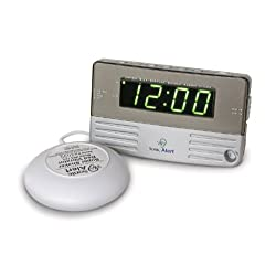 Sonic Bomb Digital Alarm Clock with Super Shaker Vibrator with 113 DB Extra-Loud Alarm & Large LED Display, Adjustable Volume and Tone Control & Auto Dimmer, Convenient Travel Size