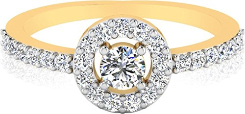 IskiUski The Malka Diamond Ring 14Kt Swarovski Crystal Yellow Gold Ring for Women