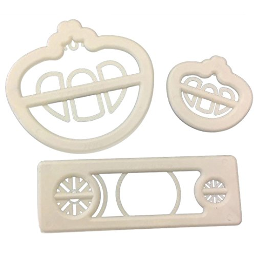 Coohole 3Pcs Princess Carriage Print Plunger Fondant Cake Mold Cookie Cutter for Kitchen (White) (Halloween Marzipan Decorations)