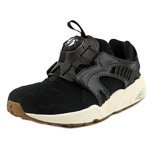 Puma Men's Shoes Disc Blaze Felt Sneakers Black Shoes (11) - Puma All Black Sneakers