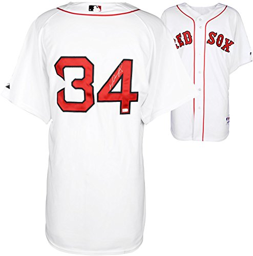 David Ortiz Boston Red Sox Autographed Majestic Authentic White Jersey - Fanatics Authentic Certified by Sports...