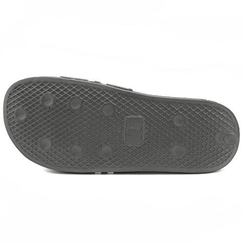 Nautica Mens King Athletic Slide Komfort Sandal Radikal Grå