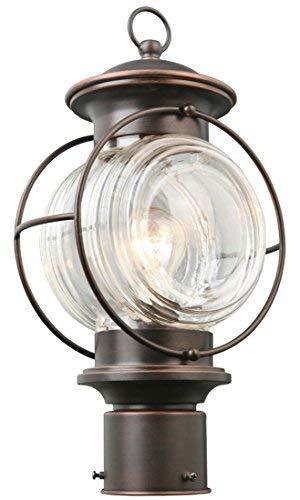 Portfolio Post Lantern - Oiled Rubbed Bronze Finish - 15.75 x 8.75 x 5.87 inches [並行輸入品] B07R9SQJNT