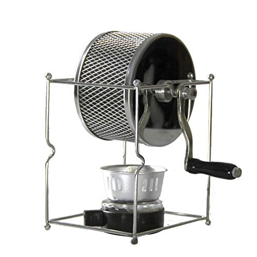 SODIAL Stainless Steel Coffee Roaster Manual Hand-Operated Rotary ...