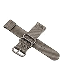 18mm Grey High-end Nato style Ballistic Nylon Watch Band Strap Replacement for Men Casual Braided