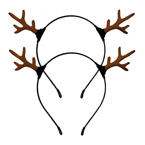 Reindeer Antler Headband Christmas Deer Antler Hair Clips