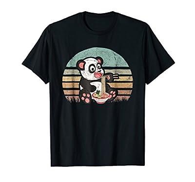 Rustic Ramen Panda Sunset Shirt Japanese Kawaii Manga Anime