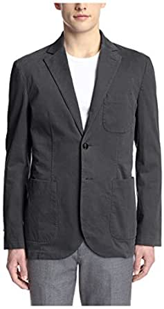 Hardy Amies Men's 2 Button Moleskin Sportcoat, Black, 38R US