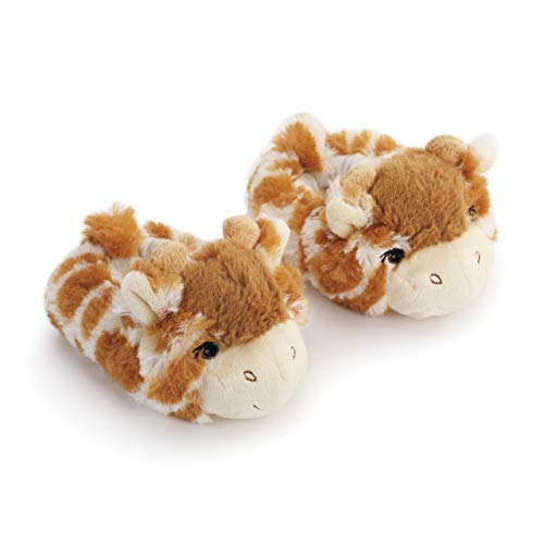 Animal Booties - Giraffe Animal Fluffy Brown 6-12 months Polyester Fabric Infant Sock Booties