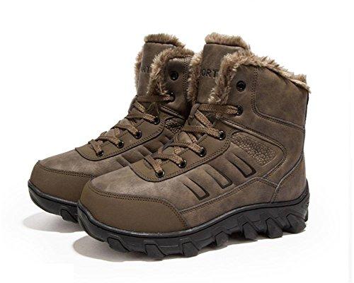 invernali Aumentare da numero il caldi brown uomini 44 alpinismo all'aperto stivali invernali di 66zZxn