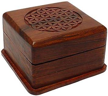 Caja mágica de Madera, Magic Box 10 x 10 x 6,5 cm, Caja secret ...