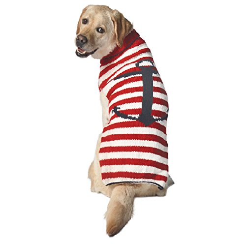 Chilly Dog Anchor Stripe Dog Sweater, Small Review