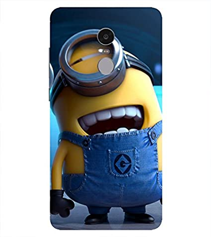 b4a8b3d85cb Fangle Minion Printed Back Cover for Redmi Note 4  Amazon.in  Electronics