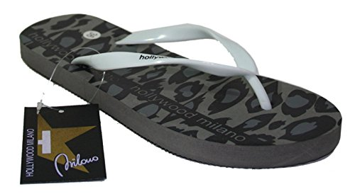 HOLLYWOOD MILANO , Tongs pour femme Gris gris 37