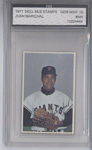 Juan Marichal Other ENCASED IN SLAB (Baseball Card) 1971 Dell MLB Stamps - [Base] #JUMA from Dell MLB Stamps