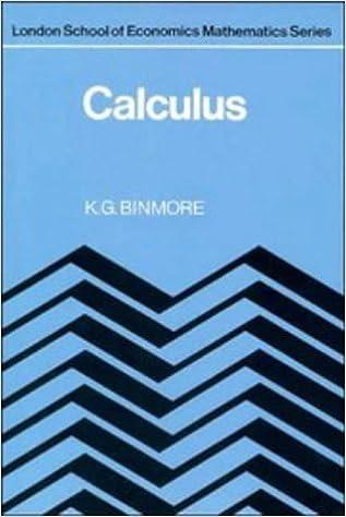 Buy Calculus (London School of Economics Mathematics) Book