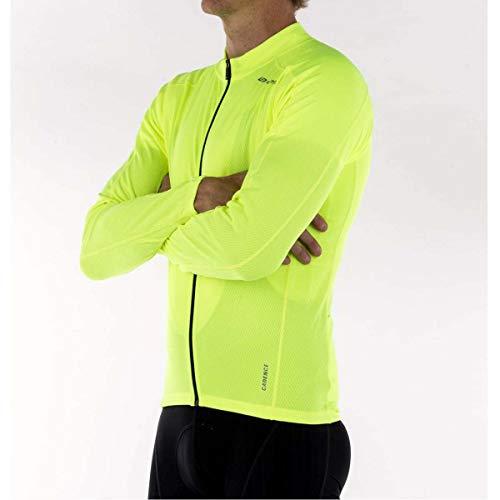 Bellwether Men's Sunscreen UV Long Sleeve Jersey, Hi-Vis, Small