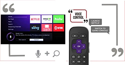 Enhanced Voice remote with Headphone Jack for Private Listening and Voice Control COMPATIBLE with TCL Roku Smart TV (2016 Newer Model) [NO TV POWER BUTTON] by IKU (Image #2)