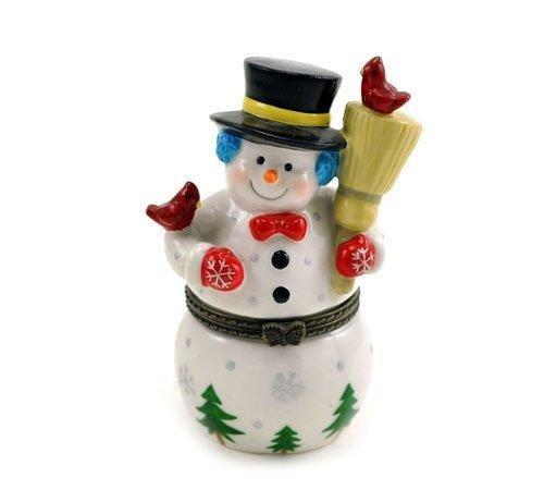 Frosty Snowman Hinged Trinket Box