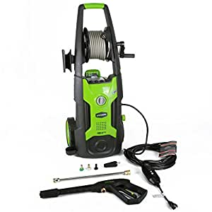 GreenWorks GPW1951 13 amp 1950 PSI 1.2 GPM Electric Pressure Washer with Hose Reel