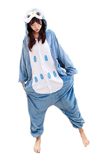 MizHome Owl Bird Deluxe Party Costume One-Piece Jampsuit Pajamas ()