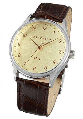 bergmann classic mens vintage watches old gentleman style brown bergmann classic mens vintage watches old gentleman style