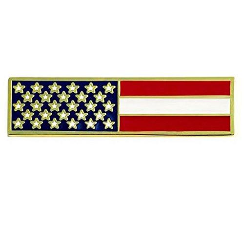 American Flag Citation Bar - USA Commendation Bar Military Uniform Tactical Lapel Pin - 1 3/8