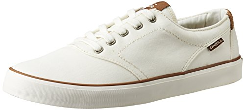 O'Neill Mens Psycho LCVS Lace Up Twill Canvas Sneaker Shoe Black Blanco - blanco
