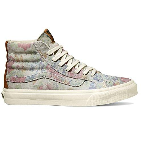 Vans Sk8 Hi Shoes UK 3 Suede Floral Marshmallow