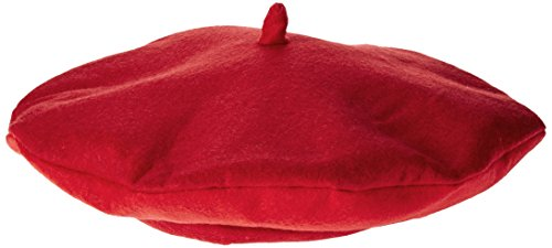Smiffy's Adult's Unisex Beret, Red, One Size, 33404