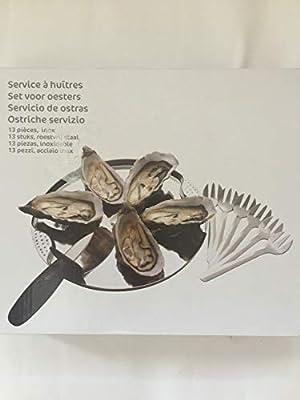 Carrefour ostras Vajilla Set de 6 Platos, 6 gaben y 1 Cuchillo ...