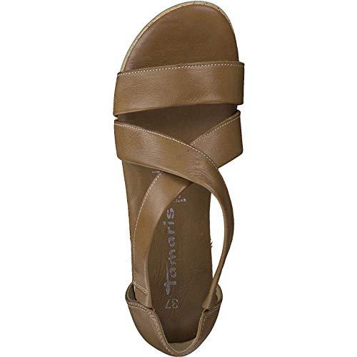 confortevole touch it sandali piatta piattaforma Estate Sandali Tamaris 1 1 scarpe Cuoio Donna Zeppa Di 22 28224 con Con Zeppa platform wUaHwA