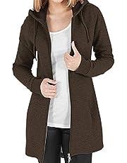 Kidsform Winterjas dames sweatjack hoodie lange mouwen pullover capuchon outwear jassen sweatshirt capuchon herfst