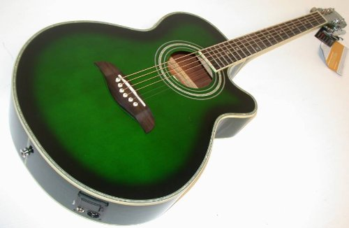 Amazon Com Oscar Schmidt By Washburn Og10ce Concert Folk A E Guitar
