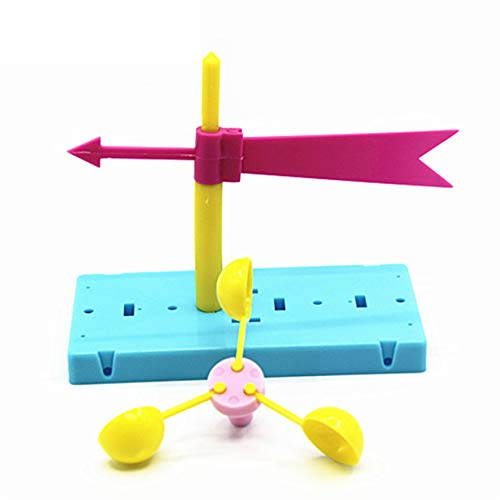 (LALANG Fun Physics Experiment Homemade Wind Vane DIY Materials Home Educational Toy Kit for Kids Students)
