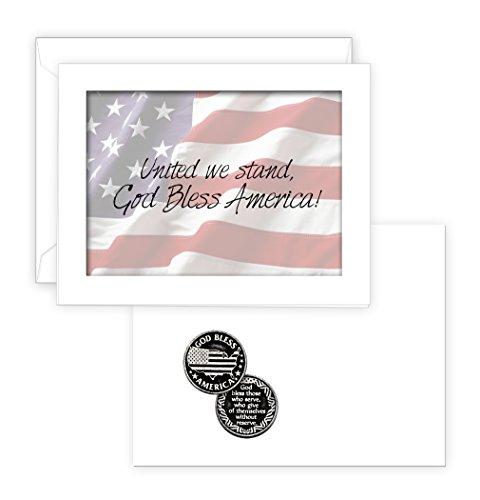 Pocket Token Gods (God Bless America Pocket Token with PJ Lamb Greeting Card)