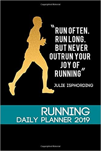 running daily planner 2019 runner daily planner calendar logbook