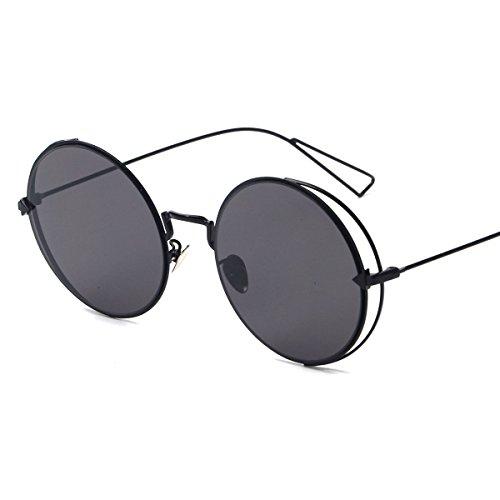 Vivian & Vincent Premiun Oversized Retro Round UV Protection Sunglasses Eyewear Black Frame Black (Golf Halloween Costumes)