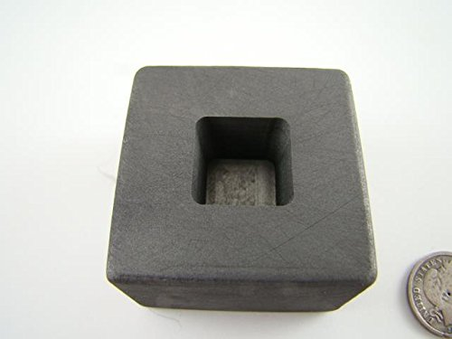 1 oz Gold 1/2oz Silver Bar High Density Graphite Tall Cube Mold Loaf Copper Made in The USA