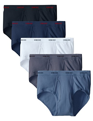 Men's 5-Pack Assorted Comfort Cotton Brief Underwear-Full Cut