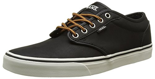 Vans Men's Atwood (Leather) Black/Marshmallow Skate Shoe 9.5 Men US