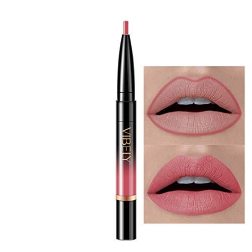 (Chenchen Itd Lip Stick Shimmer, Women Lipstick Rotating Lip Liner Matte Lipstick Crayon, Metal Lip Pen)